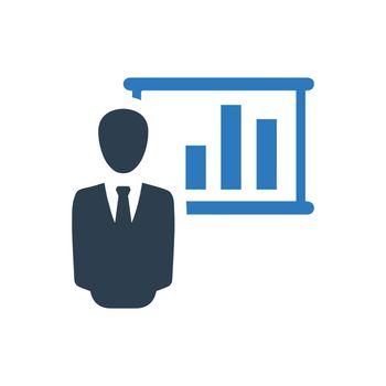 Presenting Statistics Report Icon