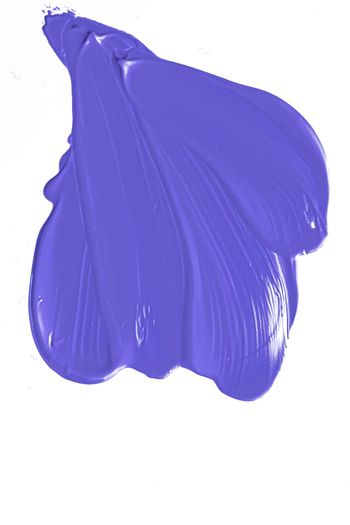 Lavender purple beauty cosmetic texture isolated on white background, smudged makeup smear or cosmetics product smudge, paint brush strokes