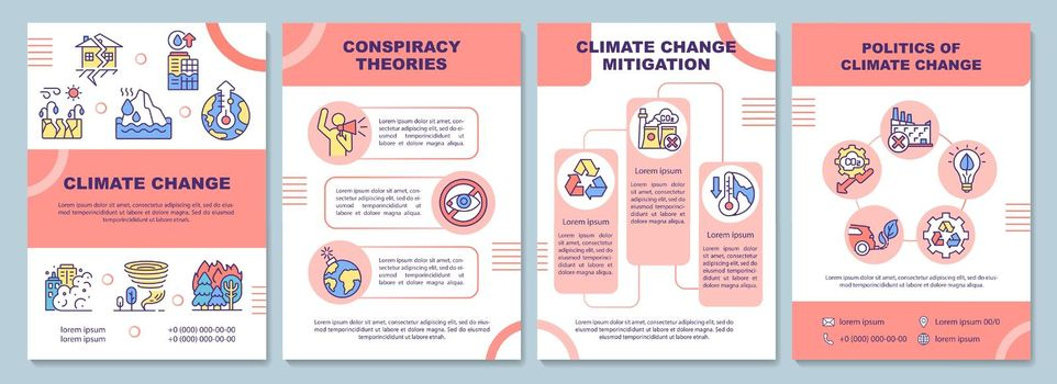 Climate change brochure template