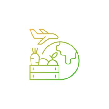 Agricultural products export gradient linear vector icon