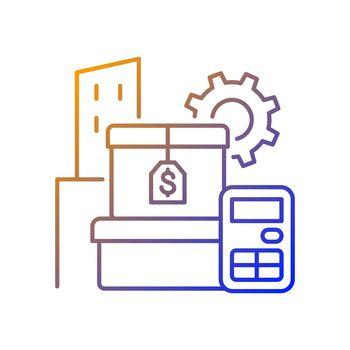 Assets management gradient linear vector icon