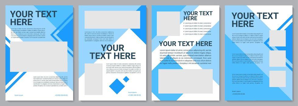 Unique turquoise brochure template