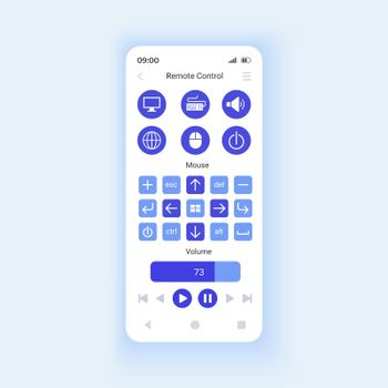 Remote control smartphone interface vector template