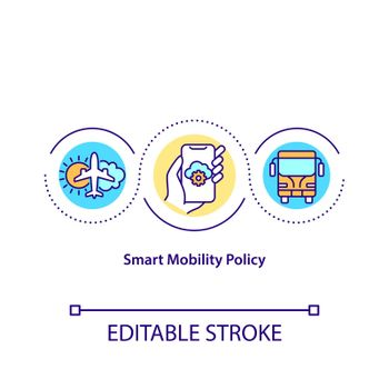 Smart mobility policy concept icon
