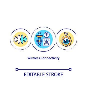 Wireless connectivity concept icon