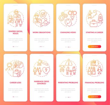 Adulthood psychology onboarding mobile app page screen