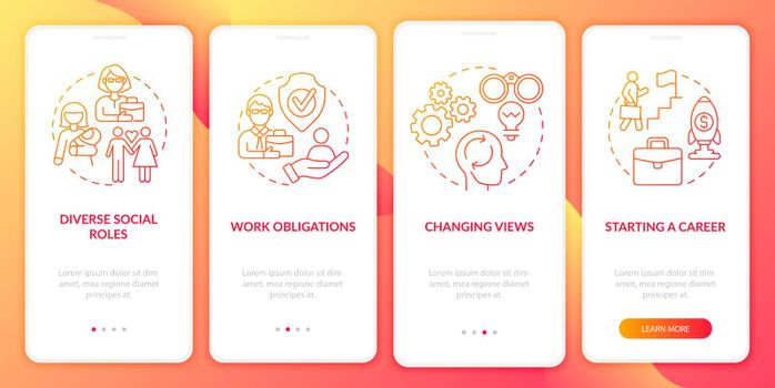 Individual thinking onboarding mobile app page screen