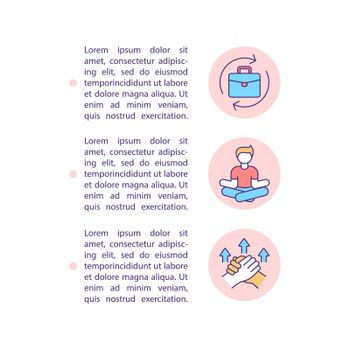 Midlife crisis prevention concept line icons with text