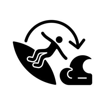 Carve surfing maneuver black glyph icon