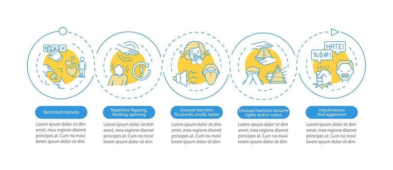 ASD diagnosis vector infographic template