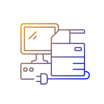 Technical equipment gradient linear vector icon