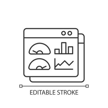 Productivity dashboard linear icon