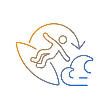 Carve surfing maneuver gradient linear vector icon