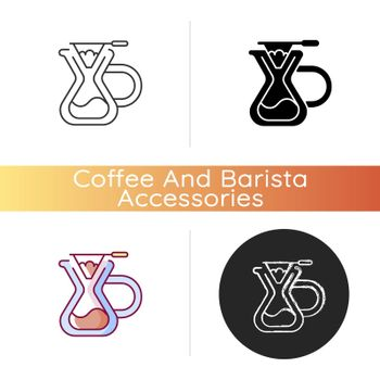 Pour over coffee maker icon