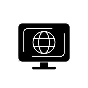 Cyberspace black glyph icon