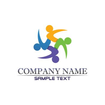 Community Care Logo People Icons In Circle Vector Concept Engagement Togetherness