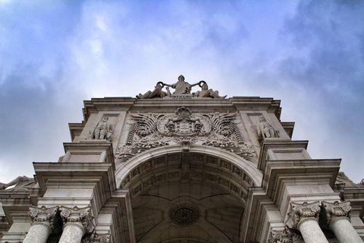 Beautiful Arco da Rua Augusta in Praca do Comercio in Lisbon