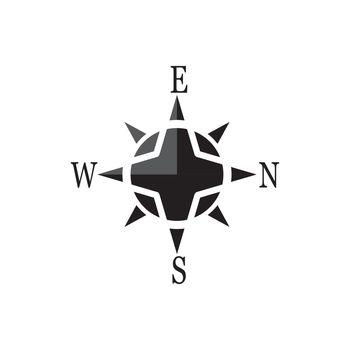 Compass signs and symbols logo design vector