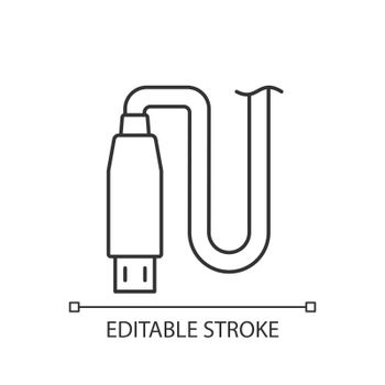 Micro USB output linear manual label icon