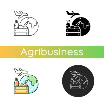 Agricultural products export icon