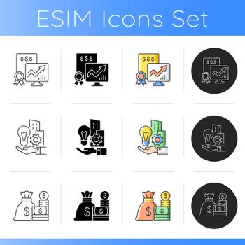 Business assets icons set