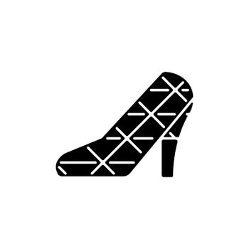 High heel wedding church black glyph icon.