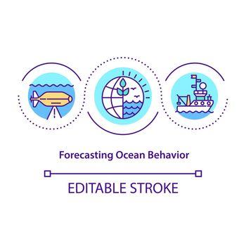 Forecasting ocean behavior concept icon