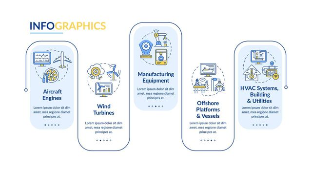 Smart ai application vector infographic template