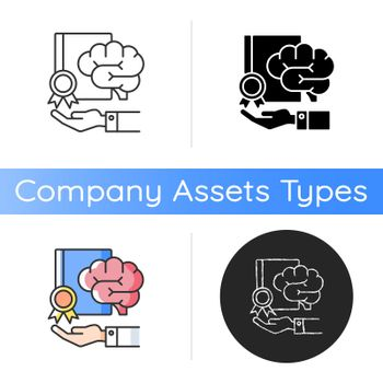 Corporate intellectual property icon