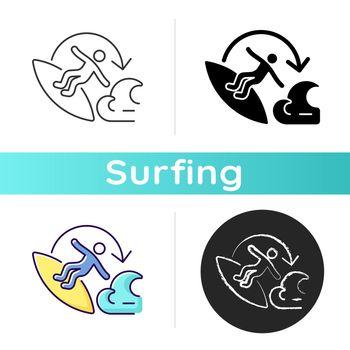 Carve surfing maneuver icon