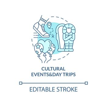 Cultural events and day trips concept icon