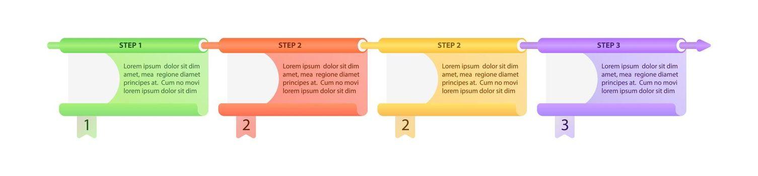 Multicolor organization vector infographic template