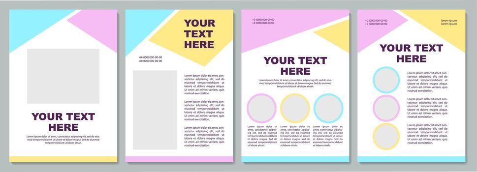 Creative unique brochure template