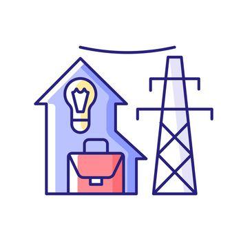 Electric utility RGB color icon