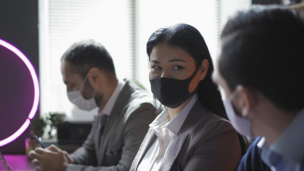 Teamwork Of Business People During Virus Outbreak