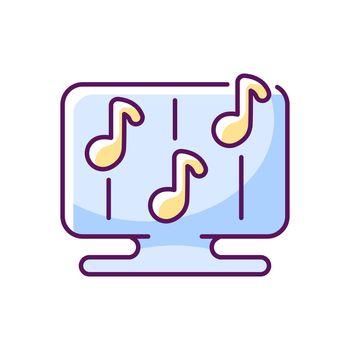 Rhythm games RGB color icon