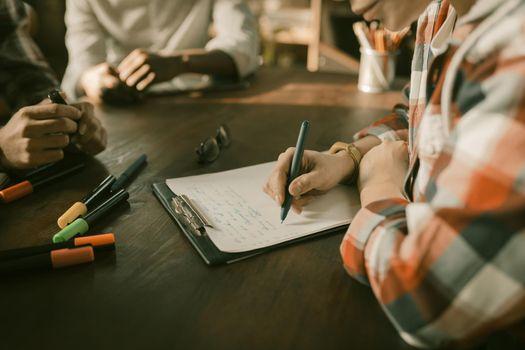 Paperwork Or Brainstorming Freelancers Team