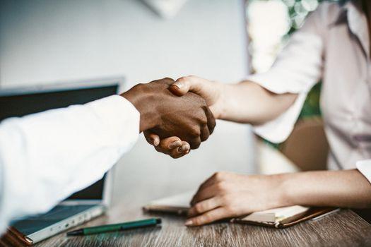 Female Business Handshake in agreement