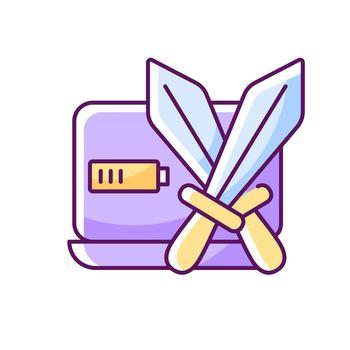 Combat games RGB color icon
