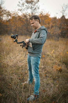 Cameraman Prepare Equipment For Shooting Video