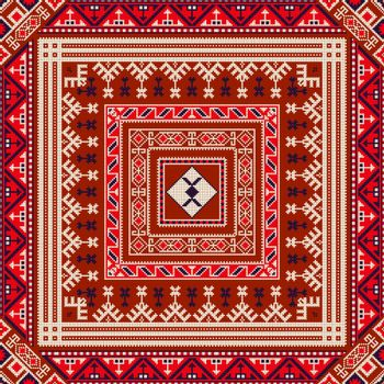 Georgian embroidery pattern 6
