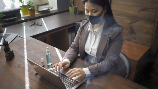 Businesswoman Working During Pandemic Days