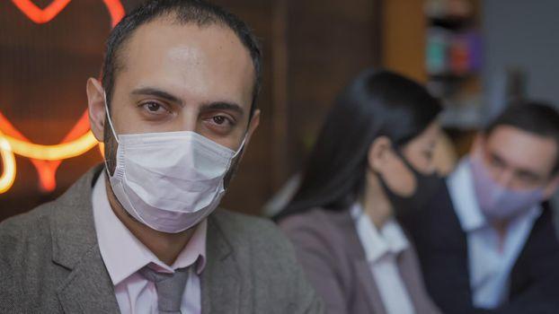 Business Man Working During Epidemic Of Coronavirus