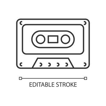 Tape cassette linear icon