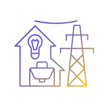 Electric utility gradient linear vector icon