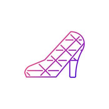 High heel wedding church gradient linear vector icon.