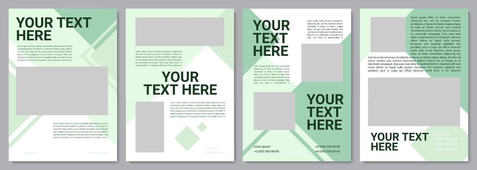 Ecology awareness campaign brochure template