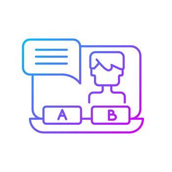 Visual novel gradient linear vector icon