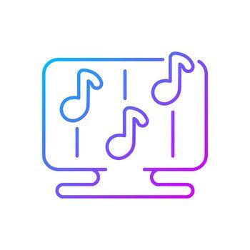 Rhythm games gradient linear vector icon