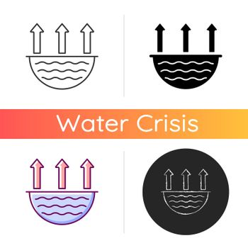 Water evaporation issue icon
